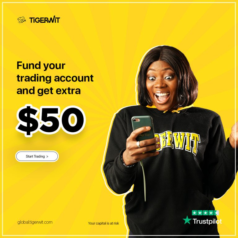 Fund your TigerWit account and get extra $50 to trade